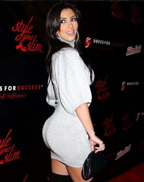 Kim Kardashian Defends Her Trademark Butt With 'FlashBACK Friday' Pic - Continues To Deny The Fact It's Been Enhanced! (PHOTO)