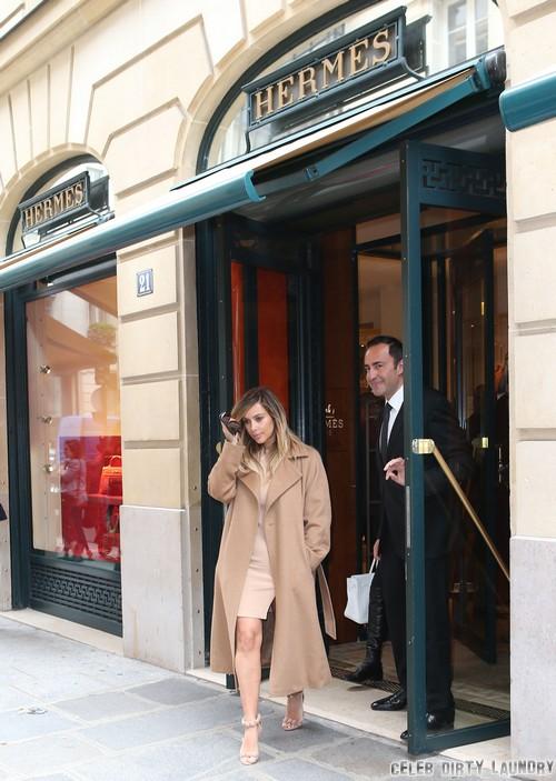 Kim Kardashian Shops At Hermes: Paris Fashion Week Stock Up! (PHOTOS)