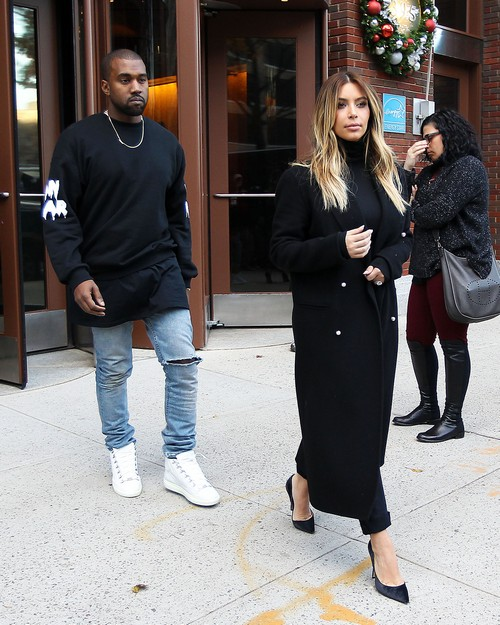 Kim Kardashian And Kanye West Spotted In NYC Without North West, Kanye Praises Kardashians For Improving America (PHOTOS)