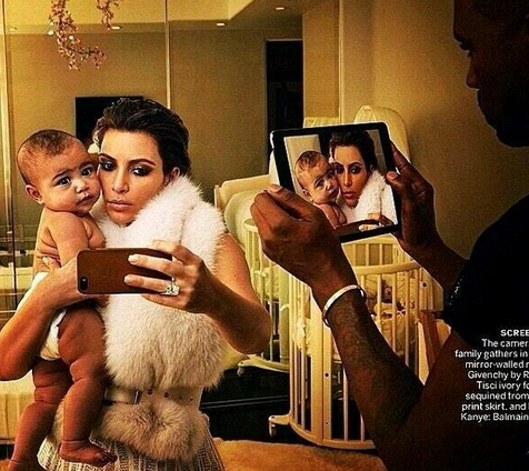 Kim Kardashian And Kanye West Vogue Cover: More Pics Featuring The Adorable Baby North West! (PHOTOS)