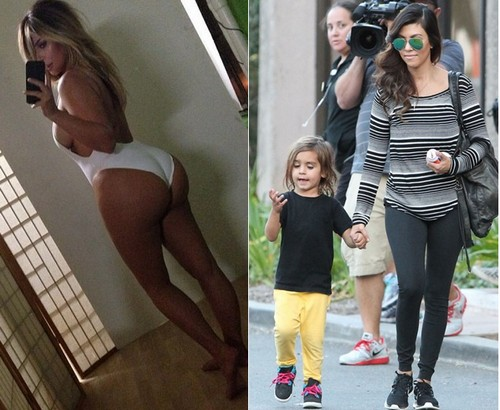 Kourtney Kardashian and Kim Kardashian Fight Over Kim's Horribly Negligent Parenting of North West: Rift Grows Deeper By the Day (PHOTOS)