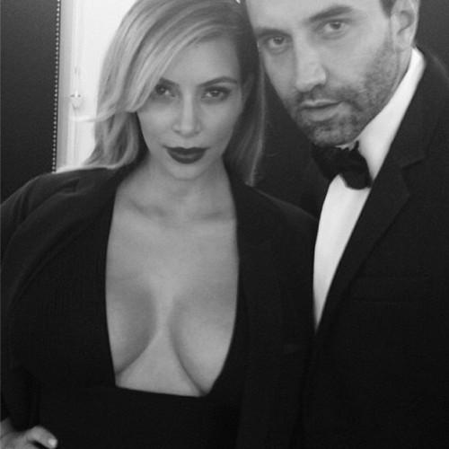 Kim Kardashian Parties with Kanye West and His Boyfriend, Riccardo Tisci in Paris - Nori Who? (PHOTOS)