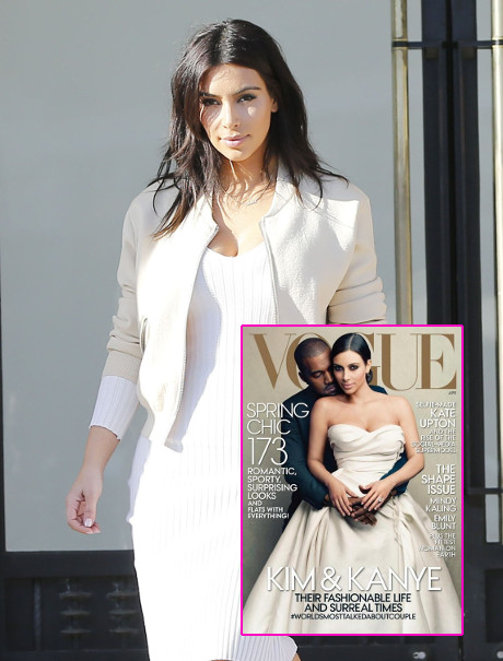 Kim Kardashian Tweets Excitement Regarding Vogue Cover - She's Happier Than She Was The Day She Birthed North West!