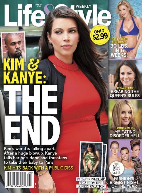 Kanye West Threatens To Take Kim Kardashian's Baby To Paris (Photo)