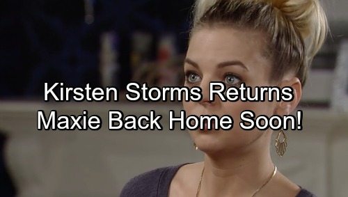 General Hospital Spoilers: Kirsten Storms Returns to GH Soon – Back Home, Looking Healthy, Ready to Work
