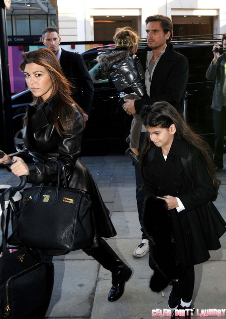 Exclusive... Stylish Disick and Kardashian Family Leave Their Hotel In London