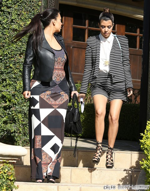 Kourtney Kardashian And Kim Kardashian Fight As Kanye West Slams Scott Disick