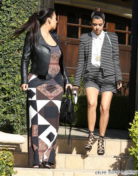 Kourtney Kardashian And Kim Kardashian Fight As Kanye West Slams Scott Disick