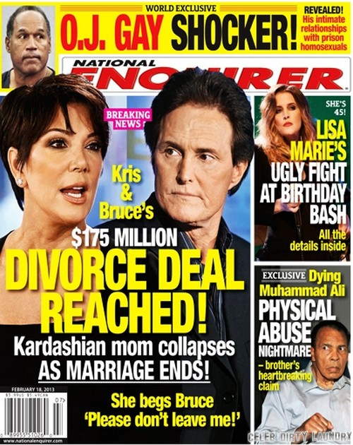 Kris Jenner and Bruce Jenner Divorce Deal Final – Marriage Over (Photo)