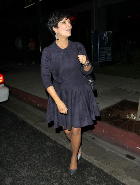Kris Jenner Dines Out At BOA Steakhouse