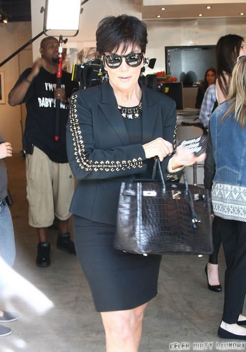 Kris & Kendall Jenner Film In West Hollywood