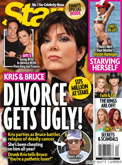 Kris and Bruce Jenner's Divorce and Separation Get Ugly: Bruce Catches Kris Cheating With Joe Francis (PHOTO)