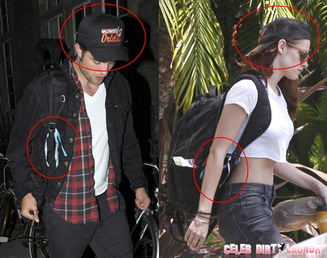 Exclusive... Was Kristen Stewart Sending Robert A Message? **FILE PHOTOS**