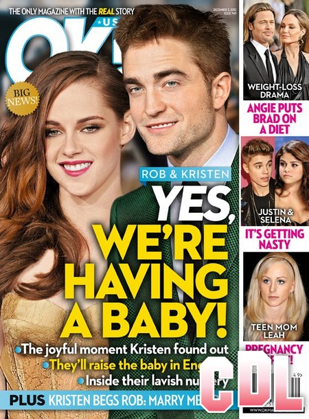 OK! Magazine: Kristen Stewart Is Pregnant - Robert Pattinson Agrees!