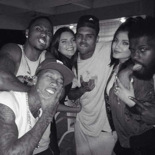 Kendall and Kylie Jenner Hook-Up With Chris Brown and Trey Songz: Kris Lets Daughters Run with Thugs For Publicity (PHOTOS)