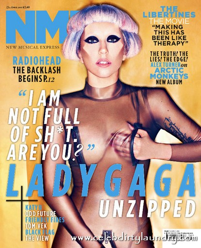 Lady GaGa Unzipped For NME Says 'I am Not Full Of Sh*t, Are You'