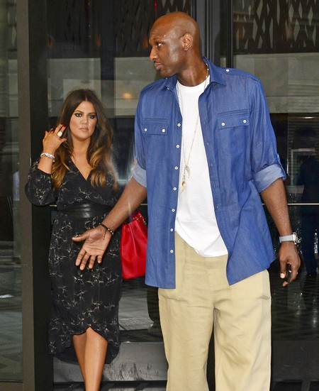 Khloe Kardashian And Lamar Odom At His Daughter's Graduation