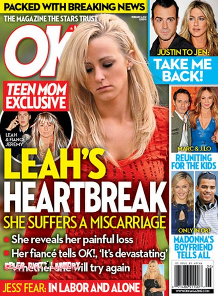 Teen Mom Leah Messer Suffers a Miscarriage (Photo)