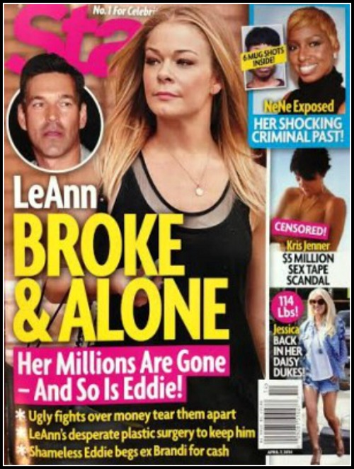 LeAnn Rimes Broke and Abandoned as Eddie Cibrian Flees Marriage (PHOTO)
