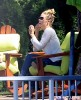 Exclusive... LeAnn Rimes & Eddie Cibrian Enjoy A Day At The Lakeside Cabin