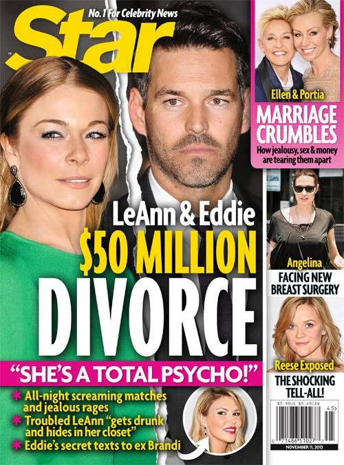 LeAnn Rimes and Eddie Cibrian Divorce and Separation Caused By Psycho Meltdowns - Report (PHOTO)