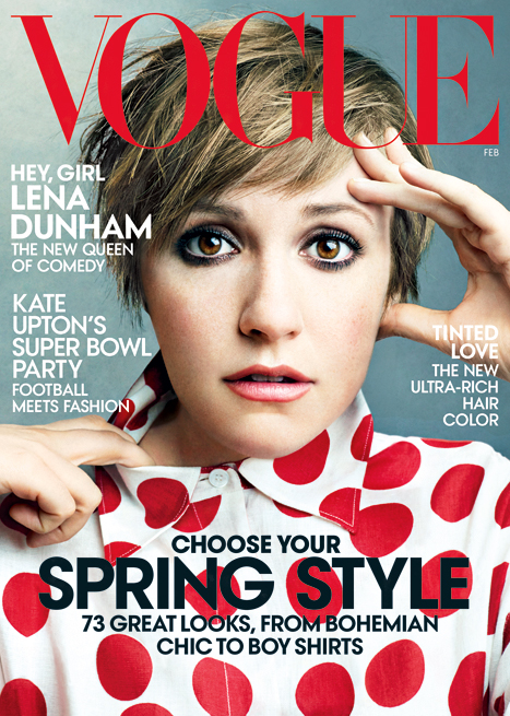 Lena Dunham Covers Vogue Magazine's February Issue