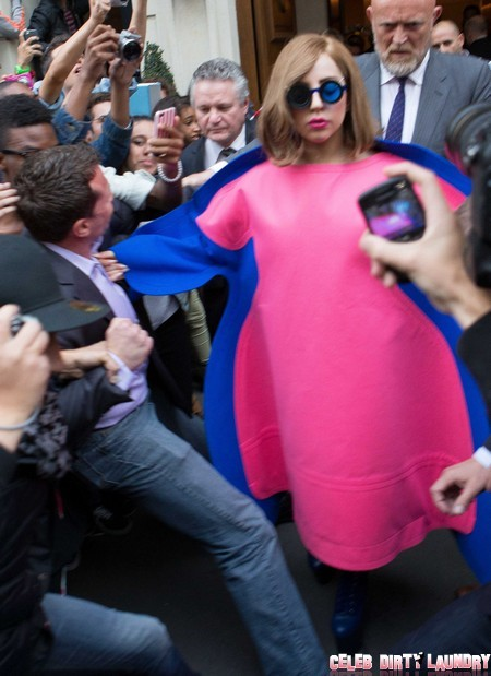 Lady GaGa Leaves Her Hotel in Paris