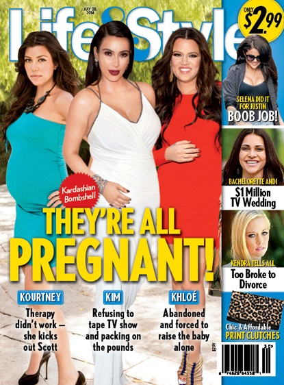 Kim, Khloe, Kourtney Kardashian Are All Pregnant - Kim Eats For Two, Khloe Has Sex Without Birth Control! (PHOTO)