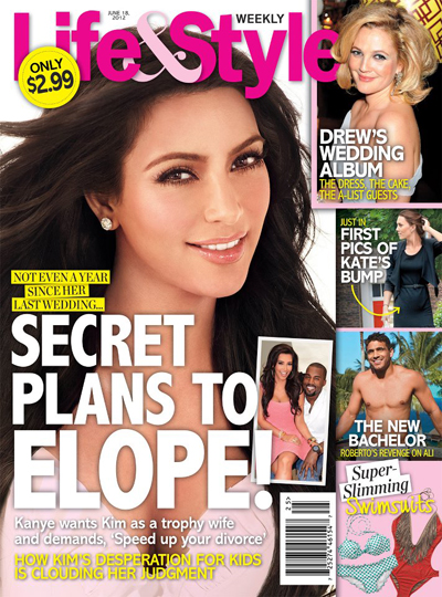 Kanye West Wants Kim Kardashian As A Trophy Wife And Is Urging Her To Elope (Photo)