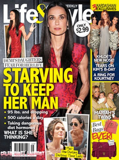 Life & Style: Demi Moore's Daughters Fear For Her Life (Cover)