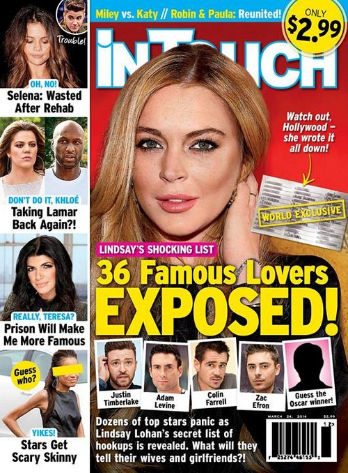 Lindsay Lohan 36 Famous Ex-Lovers Include Justin Timberlake, Adam Levine, Zac Efron and Joaquin Phoenix (PHOTO)