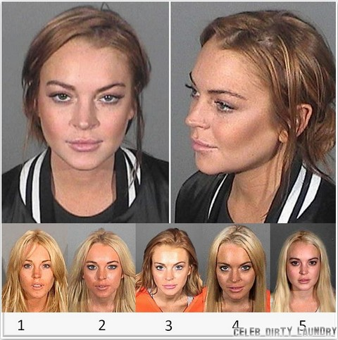 Lindsay Lohan's Mug Shot Album - See Her On Drugs (Photos)