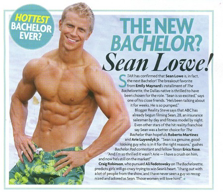 The Bachelor Sean Lowe To Star Next Season - Steroid Sales Boom