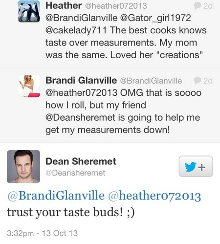 BRANDI GLANVILLE AND DEAN SHEREMET ATTACKED FOR BEING FRIENDS AND LEANN ADMITS SHE IS CRAZY