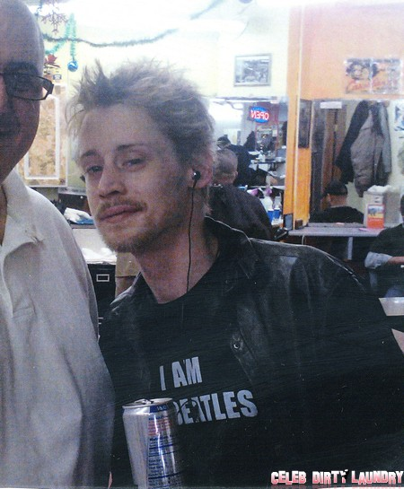 Macaulay Culkin Dresses Up Like A Dinosaur