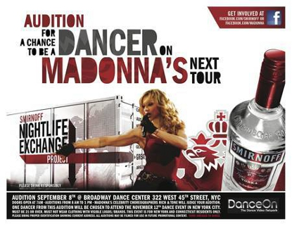 Announcement: Want To Dance For MADONNA? Live Casting Call In NYC!