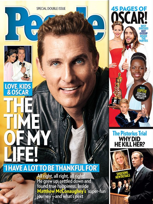 Matthew McConaughey Thankful For Oscar Win, Family, and Children - People Cover Photo
