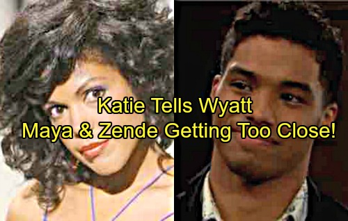 The Bold and the Beautiful Spoilers: Zende and Nicole On The Outs – Katie Suspects Maya Cheating With Zende