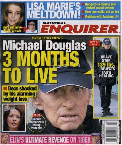 Michael Douglas Has Three Months To Live?