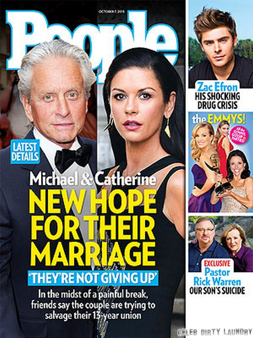 Catherine Zeta-Jones And Michael Douglas Reconcile - Back Together To Save Marriage and Family (PHOTO)