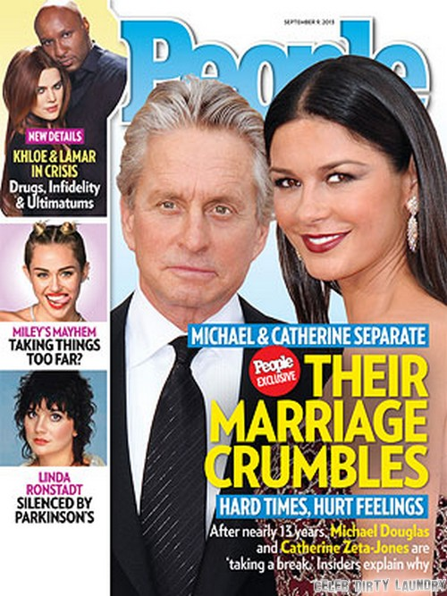 Michael Douglas and Catherine Zeta Jones Separated: Couple Announce Separation In People Magazine