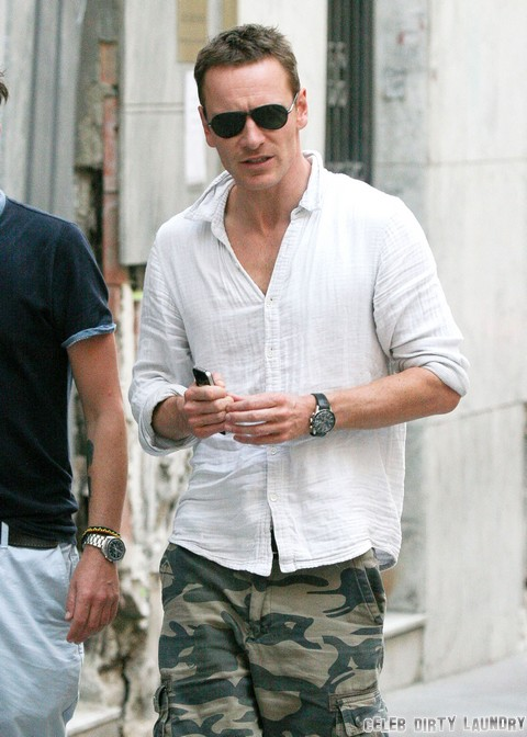 Exclusive... Michael Fassbender Enjoys His Day Off In Spain