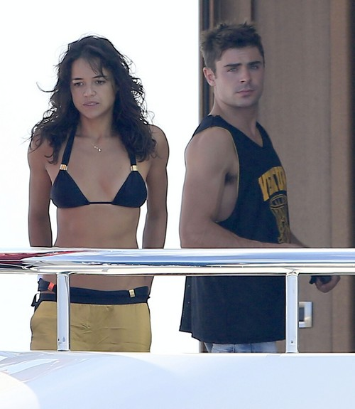 Michelle Rodriguez Broke Up With Zac Efron Over Cara Delevingne - Michelle Still In Love (PHOTOS)