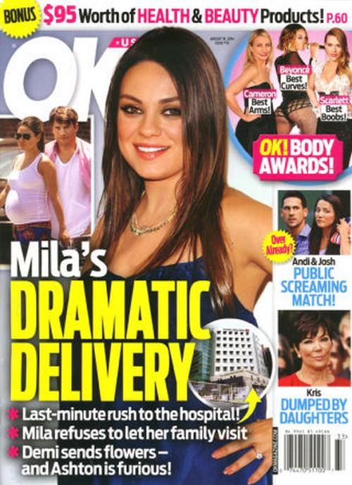 Mila Kunis and Ashton Kutcher Pregnancy Panic: Furious at Demi Moore Over Flowers? (PHOTO)