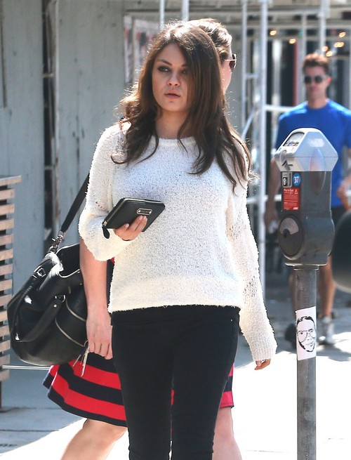 Mila Kunis Looks Pregnant With Baby Bump in New Pics Taken Since Ashton Kutcher Engagement - UPDATE MILA ANNOUNCES PREGNANCY (PHOTOS)