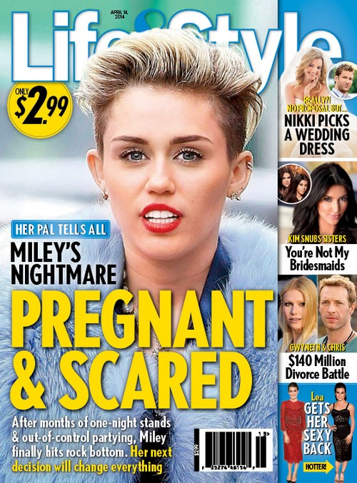 Miley Cyrus Pregnant and Scared - Rep Says No - Justin Bieber Says Maybe! (PHOTO)