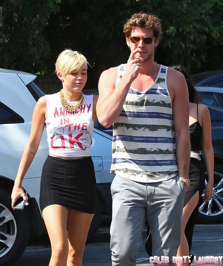 Desperate Miley Cyrus Sideboob and PDA With Liam Hemsworth In Post-Twitter Reconciliation