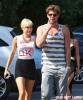 Miley Cyrus And Liam Hemsworth Grocery Shopping At Whole Foods