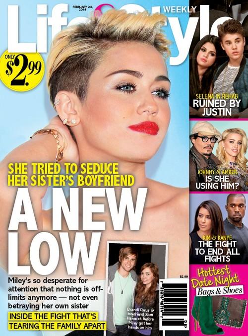 Miley Cyrus Steals Sister Brandi's Boyfriend, Rocker Sam Hancock (PHOTO)