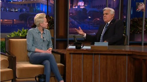 Miley Cyrus Insults Justin Bieber on Leno: Says Justin Has The Mind of a 12 Year Old Boy (VIDEO)